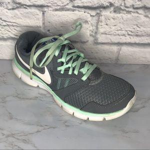 Nike Flex Experience Run 3 Gray Mint Green 6.5
